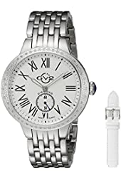 "GV2 by Gevril Women's 9100 ""Astor"" Diamond-Studded Stainless Steel Watch"