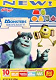 Disney Pixar Monster's U Monster's University Assorted Fruit Flavored Snacks 10 Pouches
