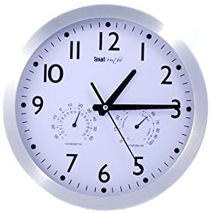 wall clock features temperature and humidity great kitchen clock