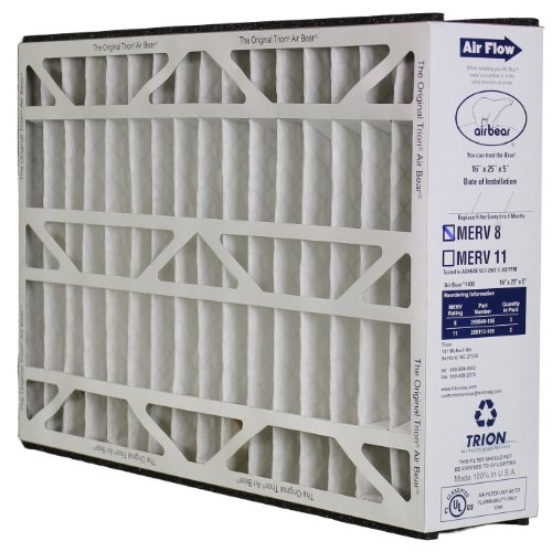 Trion Air Bear 255649-105 - Pleated Furnace Air Filter 16