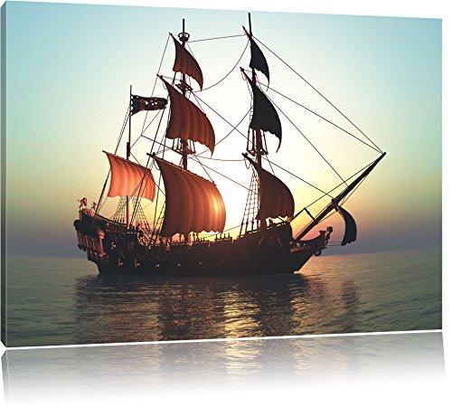 Altes-Segelschiff-Format-120x80-cm-auf-Leinwand-XXL-riesige-Bilder-fertig-gerahmt-mit-Keilrahmen-Kunstdruck-auf-Wandbild-mit-Rahmen-gnstiger-als-Gemlde-oder-lbild-kein-Poster-oder-Plakat