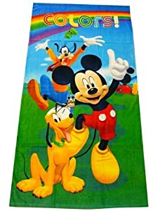 serviette sortie drap de bain mickey et pluto disney plage piscine enfant garcon 75 cm x 150 cm. Black Bedroom Furniture Sets. Home Design Ideas