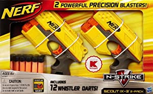 Nerf N-Strike Scout IX-3 Twin Blasters and 12 Whistler Darts