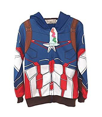 StylesILove Super Heroes Costume Zipper Hoodie Jacket