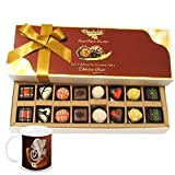 Chocholik Belgium Chocolates - 16pc Mix Assorted Surprise With Diwali Special Coffee Mug - Diwali Gifts