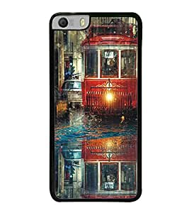 Fuson Premium 2D Back Case Cover Tram With Pink Background Degined For Micromax Canvas Knight 2 E471