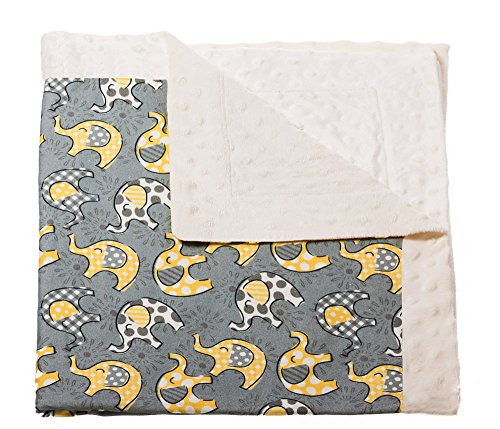 Blossoms and Buds Lil Peanut Printed Minky Dot Blanket - 1