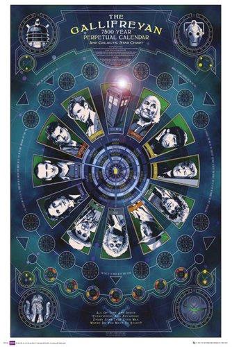 """Empire Merchandising - Poster """"Doctor Who"""", calendario di Gallifrey, con accessorio multicolore"""