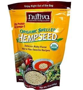 Organic Shelled Hempseed Pouch Nutiva 13 oz Seed