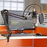 Neewer Broadcast Studio Microphone Suspension Boom Scissor Arm Stand with Shock Mount and XLR Male to Female Cable