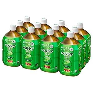 [トクホ]ヘルシア 緑茶 1L×12本