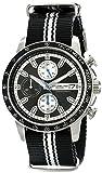 Stuhrling Original Mens 678.01 Monaco Analog Display Japanese Quartz Chronograph Black Watch