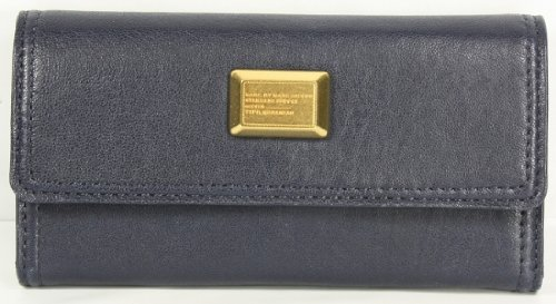 Marc by Marc Jacobs Q49 Long Trifold Wallet Dark Blue