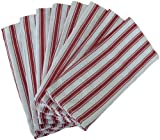Basketweave Kitchen Towels Commercial Grade 19 X 29in (8-Pack) Red