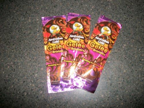 3 Packets 2011 Australian Gold GELEE BRONZERS Hemp Tanning L