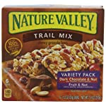 Nature Valley Trail Chewy Mix, Variety Pack of Dark Chocolate & Nut and Fruit & Nut, 6-Count Boxes (Pack of 12)