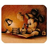 Mickey Mouse Customize Standard Rectangle Black Mouse Pad Durable Cloth Mouse Mat