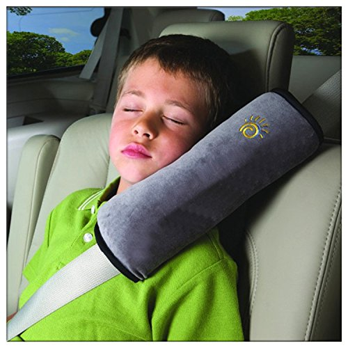 Domire-Safety-Child-car-seat-belt-Strap-Soft-Shoulder-Pad-Cover-Cushion-Gray