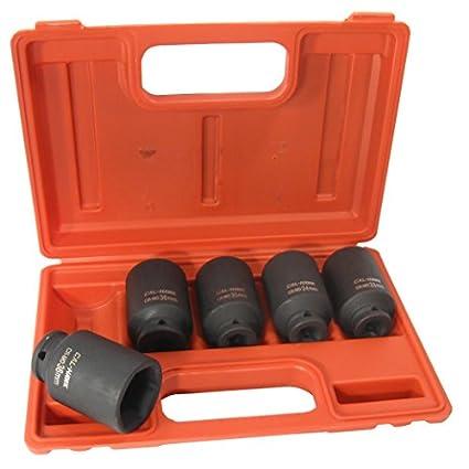 5-Pc-1/2-Drive-Cr-Mo-6-Point-Deep-Impact-Socket-Set,-33mm,-34mm,-35mm,-36mm,-38mm,-Metric