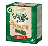 GREENIES Grain Free Dental Chews Regular Treats for Dogs - 27 oz.