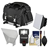 Canon 200DG Digital SLR Camera Case - Gadget Bag with Flash + Soft Box + Reflector Kit for EOS 6D - 70D - 7D - 5DS - 5D Mark II III - Rebel T3 - T3i - T5 - T5i - T6i - T6s - SL1