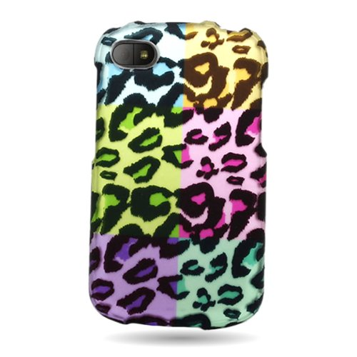 Coveron® Slim Hard Case For Blackberry Q10 With Cover Removal Tool - (Colorful Leopard)