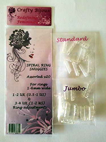 Spiral Ring Snuggies (20) Assorted Kit (0.5-1 & 1-2 Us Size Reduction For Rings 1-6 Mm Wide)
