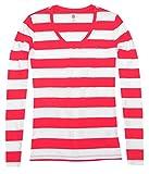 Tommy Hilfiger Women V-neck Long Sleeve Stripe T-shirt