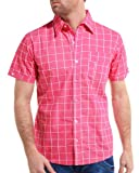 TK Denim - Plaid shirt man fuschia fashion