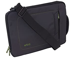 STM dp-2140-1 Jacket Extra Small Sleeve, Fits Most 11-Inch Screens, Black/Green