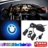 Generic 2 x 5W LED Car Ghost Shadow Lights Blue For BMW X1 X3 X5 X6 I3 I8 Z4