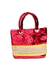Arisha Kreation Co Women Hand Bag (Maroon)