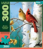 Large Size Hautman Songbirds: Cardinals and Birch 300 Pieces Jigsaw Puzzle