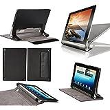 Housse Lenovo Yoga Tablet 2-1050 10.1 pouces Cuir Style noire avec Stand - Etui coque noir de protection tablette Lenovo Yoga Tablet 2 10 - accessoires pochette XEPTIO !