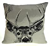 "Noble Stag Jacquard Cushion Covers 18"" x 18"""
