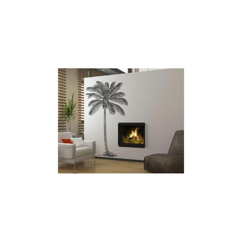 Vinyl Wall Art Decal Sticker Palm Tree Big 38 X 72 (6feet Tall)