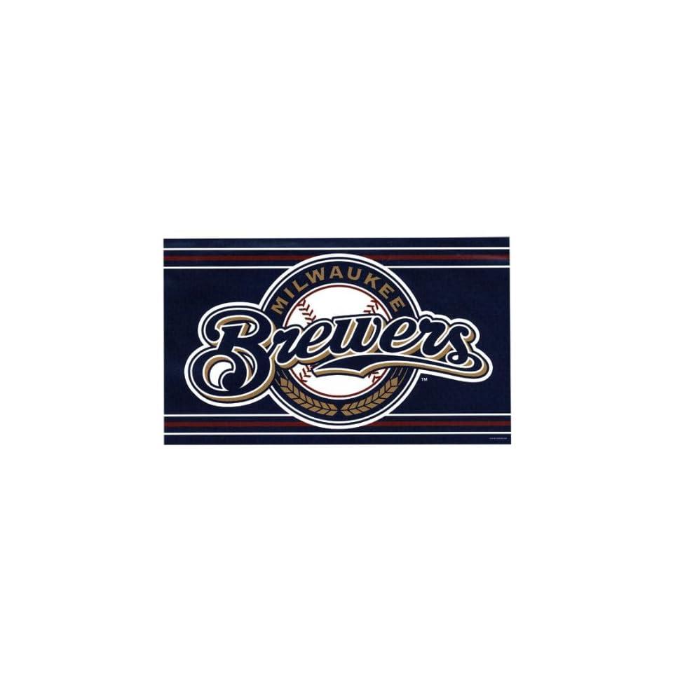Milwaukee Brewers   Logo 3 X 5 Flag MLB Pro Baseball