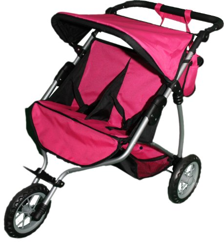 Mommy & Me Twin Doll Jogger 9367B With Free Sports Bag front-73104