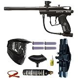 Spyder Victor Paintball Marker Gun 3Skull 4+1 9oz Mega Set - Black