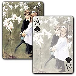 Garden Study of Vicker's Children - Single Deck Playing Cards