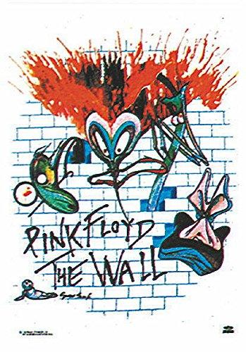 Heart Rock Licensed Bandiera Pink Floyd - The Wall, Tessuto, Multicolore, 110X75X0,1 cm