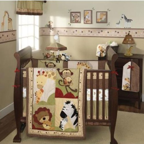 Lambs & Ivy 6-Piece Baby Luv Cot/Cot Bedding Set