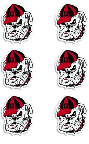 georgia-bulldogs-mini-cals-repositionable-skin-safe-decals
