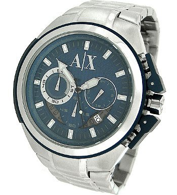 Armani Exchange AX1180 Men's Blue Dial Stainless Steel Chronograph Quartz Watch