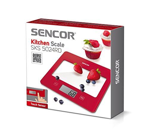 Sencor 41000755 SKS 5024RD Balance de Cuisine Rouge