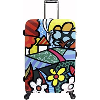 Britto Collection by Heys USA Flowers 26 Spinner Case