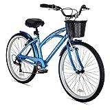 Kent Women's 15-Inch Bay Breeze 7-Speed Cruiser Bicycle, Blue
