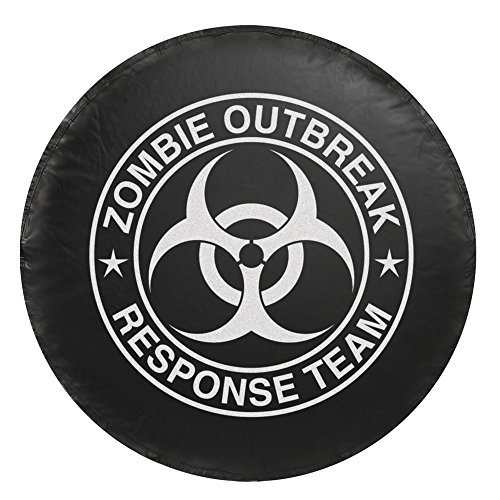 Bully CM-07W Spare Tire Cover (Zombie White Logo -Large) (Tire Cover Large compare prices)
