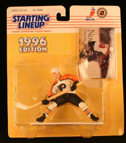 ERIC LINDROS / PHILADELPHIA FLYERS 1996 NHL Starting Lineup Action Figure & Exclusive Collector Skybox Trading Card