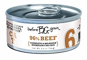 Merrick Before Grain #6 Beef Paté Style Cat Food, 5.5 Ounce Can (24 Count Case)